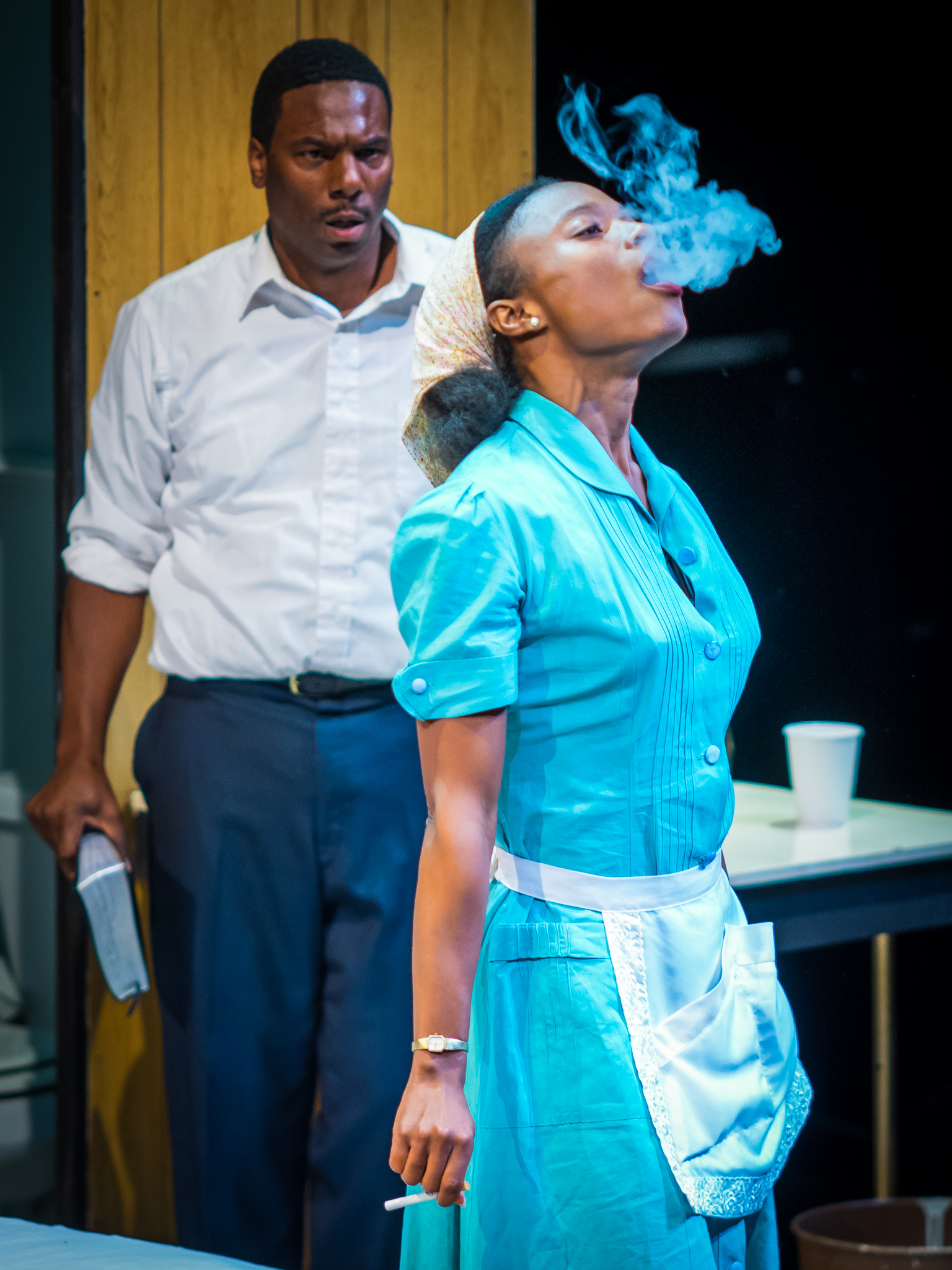 Pall Malls - Camae (brianne a. hill) and Dr. King (Reginald André Jackson)