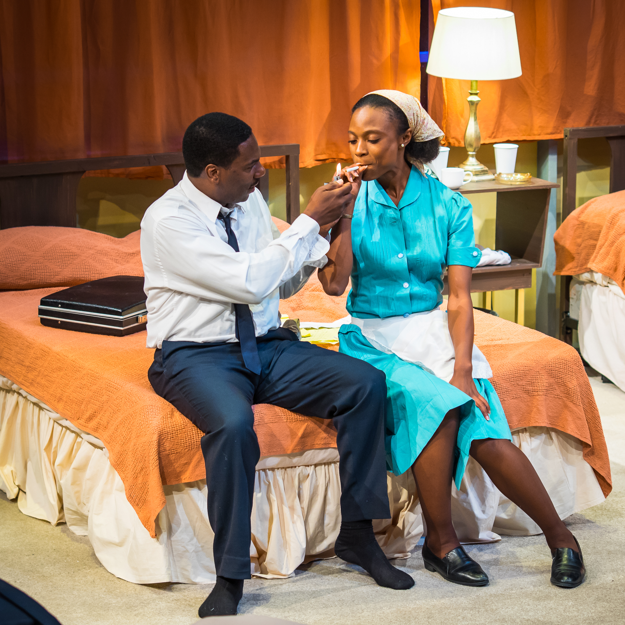 Dr. King offering (Reginald André Jackson ) to Camae (brianne a. hill)