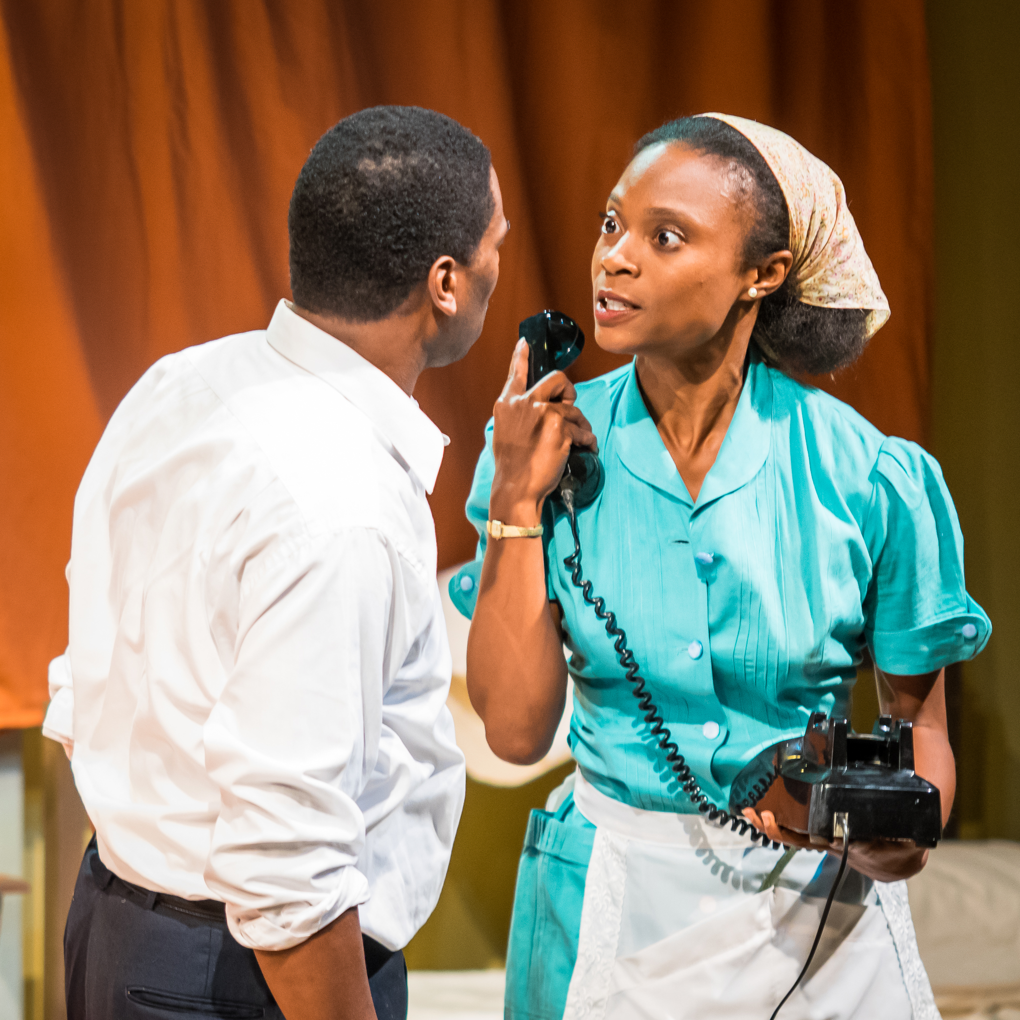 Dr. King (Reginald André Jackson) and Camae (brianne a. hill)