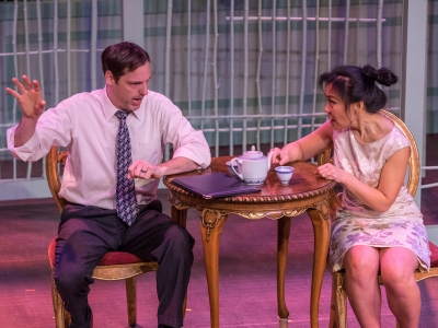 Evan Whitfield (Daniel) and Kathy Hsieh (Xi Yan)