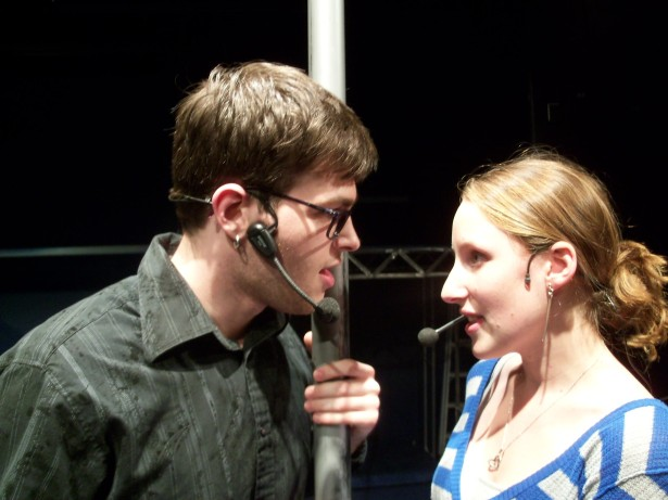 Kody Bringman and Becca Orts in rehearsal in THE ROCKY HORROR SHOW 2010